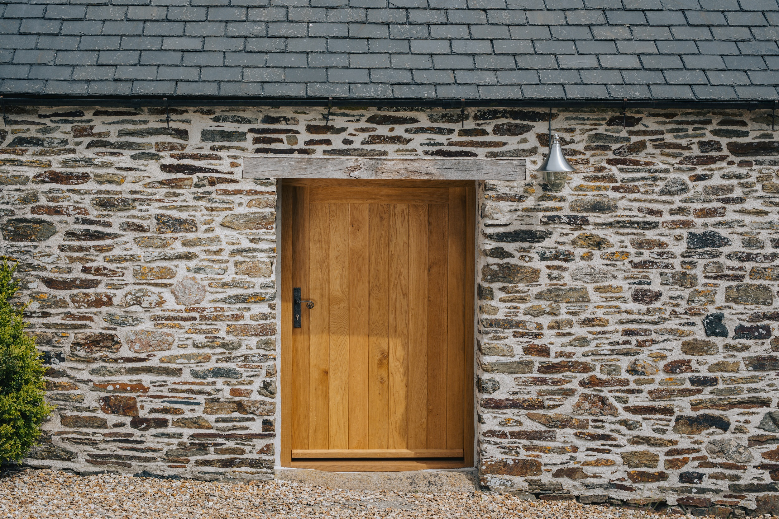 front on view of bespoke timber door for a barn