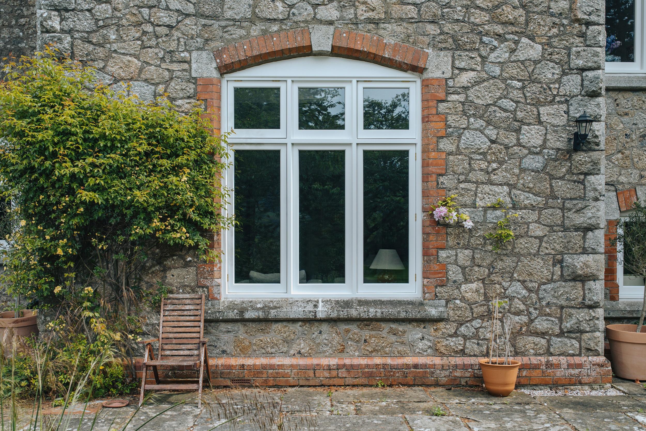 large timber flush casement window